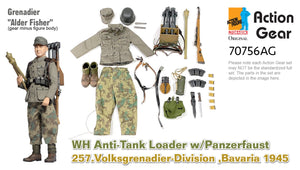 "1/6 Dragon Original Action Gear for Grenadier ""Alder Fisher"", WH Anti-Tank Loader w/Panzerfaust, 257.Volksgrenadier-Division, Bavaria 1945"