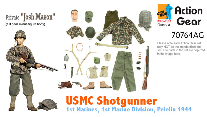 "1/6 Dragon Original Action Gear for Private ""Josh Mason"", USMC Shotgunner, 1st Marines, 1st Marine Division, Peleliu 1944"