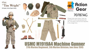 "1/6 Dragon Original Action Gear for GSgt. ""Tim Wright"", USMC M1919A4 Machine Gunner, 27th Marine Regiment, 5th Marine Division, Iwo Jima 1945"