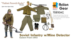 "1/6 Dragon Original Action Gear for Private ""Vladimir Petrovich Kozlov"", Soviet Infantry w/Mine Detector, Eastern Front 1943"