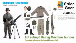 "1/6 Dragon Original Action Gear for Sturmmann ""Ernst Kunkel"", Totenkopf Heavy Machine Gunner, Totenkopf-Infanterie-Regiment 1, France 1940"