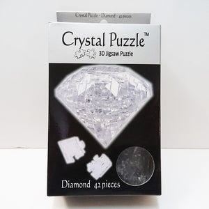 Crystal Puzzle 3D Jigsaw Puzzle - Diamond (White, 42 pieces)
