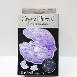 Crystal Puzzle 3D Jigsaw Puzzle - Pearl Shell (Blue, 48 pieces)