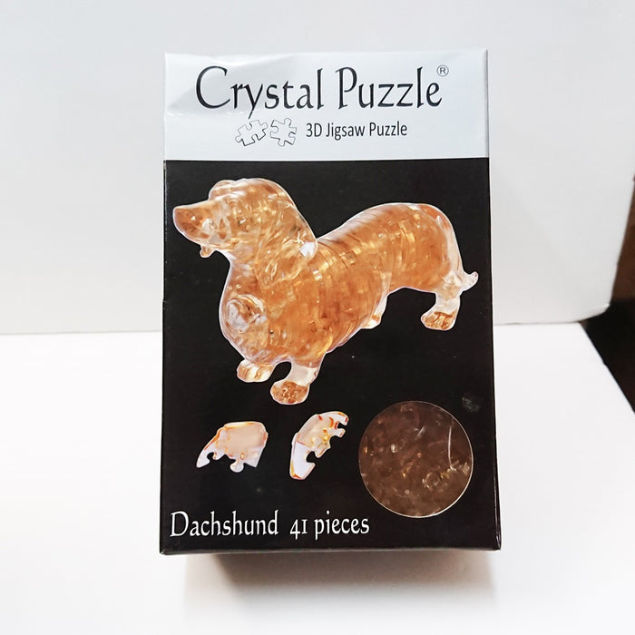 Crystal Puzzle 3D Jigsaw Puzzle - Dachshund (41 pieces)