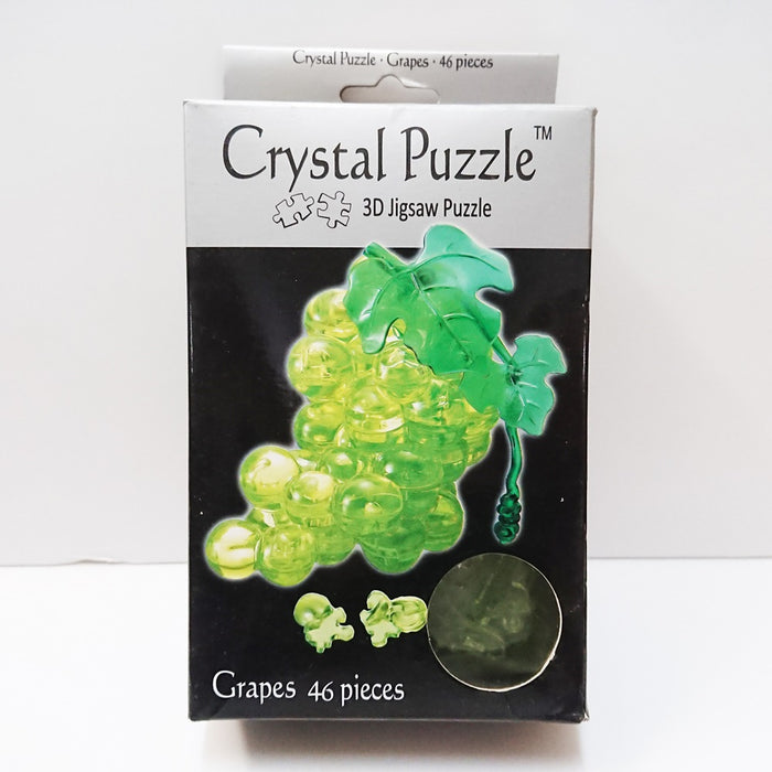 Crystal Puzzle 3D Jigsaw Puzzle - Grapes (Green, 46 pieces)