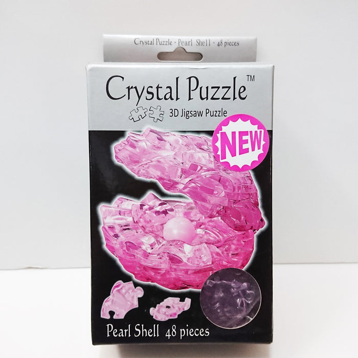 Crystal Puzzle 3D Jigsaw Puzzle - Pearl Shell (Pink, 48 pieces)
