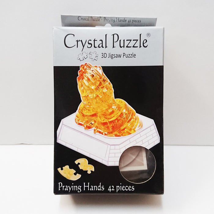 Crystal Puzzle 3D Jigsaw Puzzle - Praying Hands (42 pieces)
