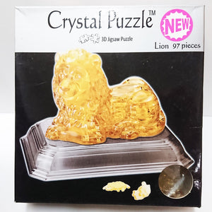 Crystal Puzzle 3D Jigsaw Puzzle - Lion (97 pieces)