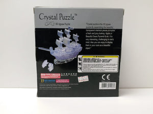 Crystal Puzzle 3D Jigsaw Puzzle - Pirate Ship (101 pieces)