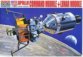 1/96 Apollo Command Module + Lunar Module