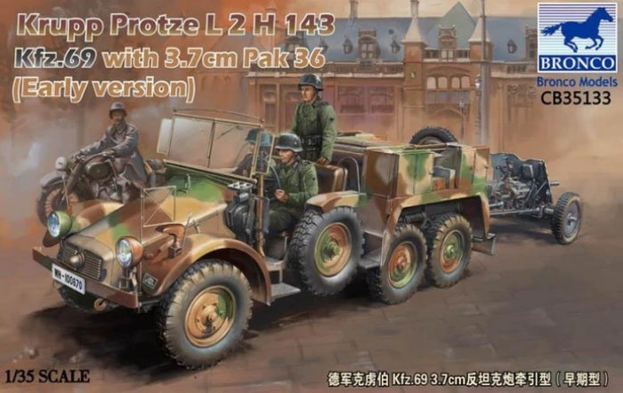1/35 Krupp Protze L2 H 143 Kfz.69 with 3,7 cm Pak 36 (Early version)