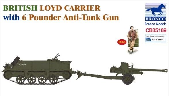 1/35 British Loyd Carrier with 6 Pounder Anti-Tank Gun