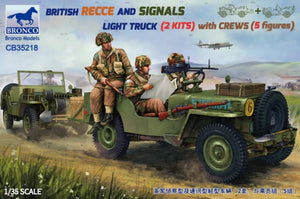 1/35 British Recce And Signals Light Truck (2 Kits)with Crew (5 figures)