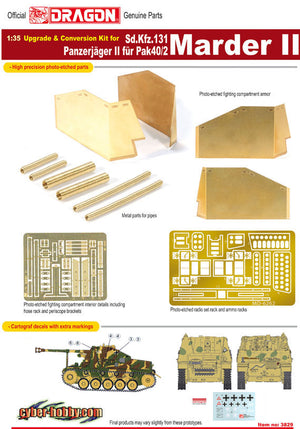 CYBER HOBBY EXCLUSIVE DR03829 - 1/35 UPGRADE & CONVERSION KIT FOR MARDER II
