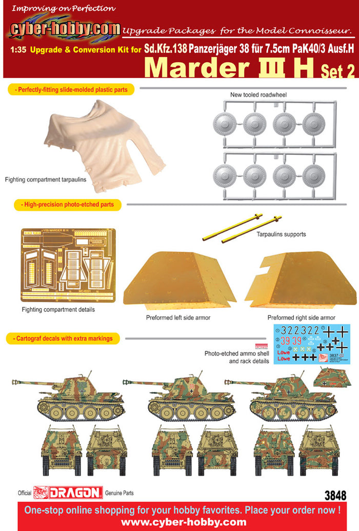 1/35 Upgrade and conversion kit for Marder III H (Set 2)