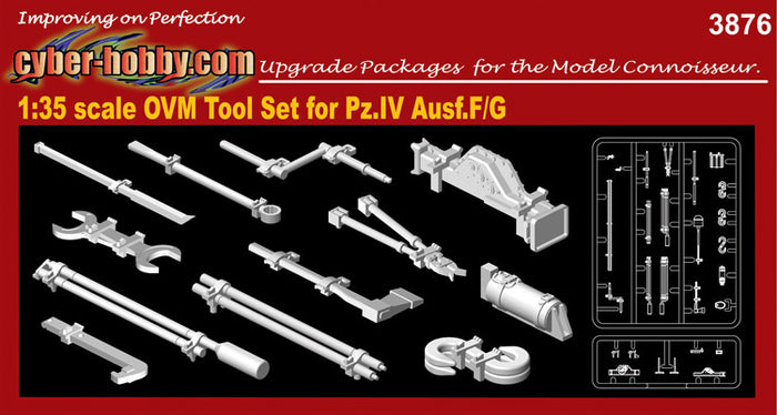 CYBER HOBBY EXCLUSIVE DR03876 - 1/35 OVM Tool Set for Pz.IV Ausf.F/G