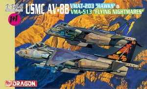 "1/144 USMC AV-8B VMAT-203 ""Hawks"" & VMA-513 ""Flying Nightmares"" (Twin Pack)"