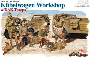 1/35 Kübelwagen Workshop w/DAK Troops
