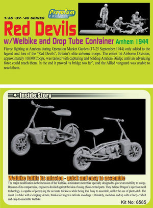 1/35 Red Devils w/Welbike and Drop Tube Container, Arnhem 1944