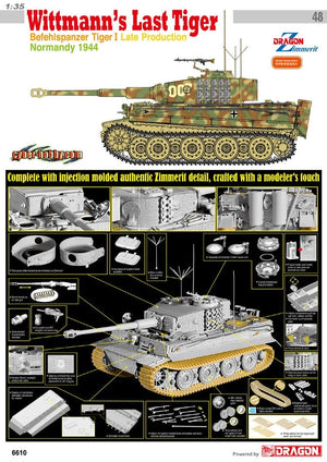 1/35 Wittmann's Last Tiger, Befehlspanzer Tiger I Late Production, Normandy 1944