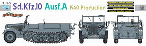 1/35 Sd.Kfz.10 Ausf.A 1940 Production