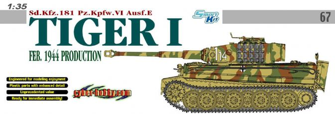 1/35 Sd.Kfz.181 Pz.Kpfw.VI Ausf.E Tiger I, Feb. 1944 Production