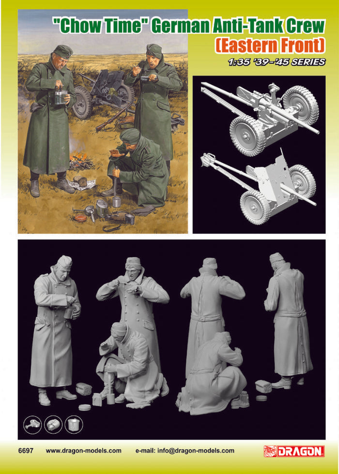 "1/35 ""Chow Time"" German Anti-Tank Gun Crew (Eastern Front)"