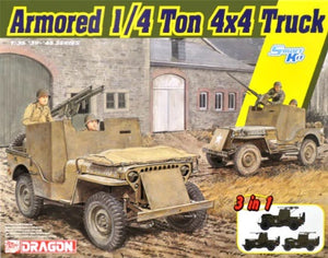 1/35 Armored 1/4-Ton 4x4 Truck w/.50-cal Machine Gun (3 in 1)