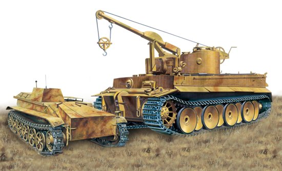 "1/35 ""Bergepanzer Tiger I"" mit Borgward IV Ausf.A Heavy Demolition Charge Vehicle"