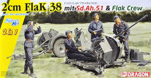 1/35 2cm FlaK 38 Early/Late Production mit Sd.Ah.51 & Flak Crew (2 in 1)
