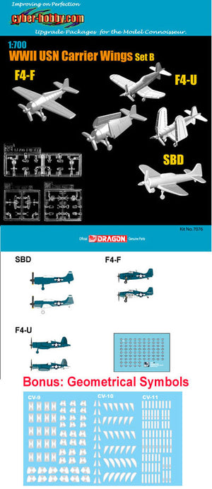1/700 WWII USN Carrier Wings Set B