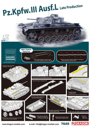 1/72 Pz.Kpfw.III Ausf.L Late Production w/Neo Track