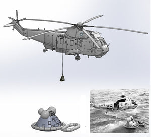 "1/72 ""Apollo Recovery""  SH-3D ""Helo 66"" & Apollo Command Module"
