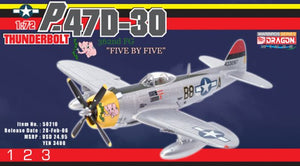 "1/72 P-47D-30 Thunderbolt B8-A ""Five by Five"" ""Col. Joseph L. Laughlin"", 362nd FG"