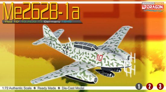 "1/72 Me262B-1a ""Red 10"", 10./NJG 11, Germany 1945"