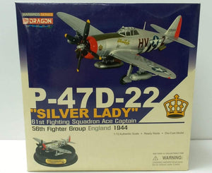 "1/72 P-47D-22 ""Silver Lady"", 61st Fighting Squadron Ace Captain, 58th Fighter Group, England 1944"