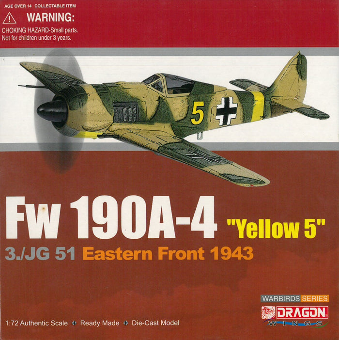 "1/72 Fw190A-4, ""Yellow 5"", 3./JG51, Eastern Front 1943"