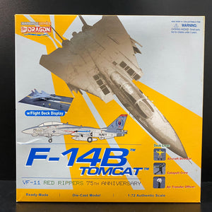 "1/72 F-14B Tomcat, VF-11 ""Red Rippers"" 75th Anniversary, w/Deck Crew"