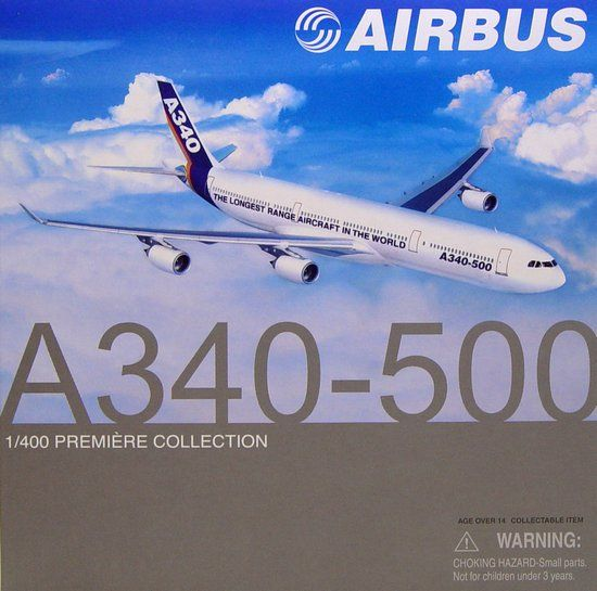 "1/400 A340-500 Airbus ""The Longest Range Aircraft In The World"""