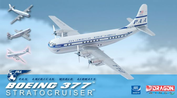 "1/400 377 Stratocruiser - Pan American World Airways ""Clipper America"" ~ N1025V"