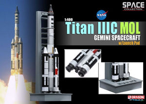 1/400 Titan IIIC MOL, Gemini Spacecraft w/Launch Pad