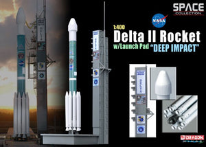 "1/400 Delta II Rocket w/launch Pad ""Deep Impact"""