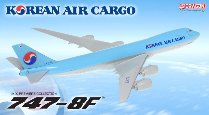 1/400 747-8F Korean Air Cargo ~ HL7609