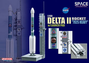 "1/400 Delta II Rocket ""7925 Heavy"" w/Launch Pad"