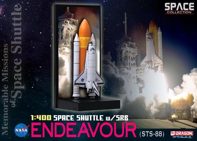 1/400 Space Shuttle Endeavour w/SRB (STS-88)
