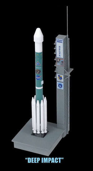 1/400 Delta II Rockets w/Launch Pads Set - Contains 3 Rockets