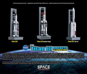1/400 Titan III Rockets w/Launch Pads Set - Contains 3 Rockets