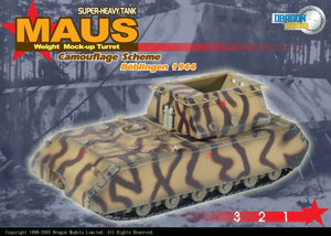 1/72 Maus Weight Mock-Up Turret, Camouflage Scheme, Boblingen 1944