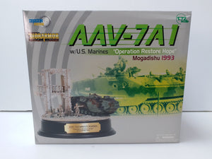 "1/72 AAV7A1 w/U.S. Marines, ""Operation Restore Hope"", Mogadishu 1993 + Diorama Building"