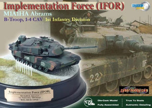 1/72 M1A1HA Abrams, B-Troop, 1-4 CAV, 1st Infantry Division, IFOR + Diorama Base